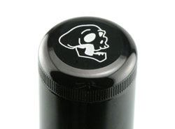Engraved flashlight cap
